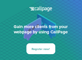 CallPage banner ad